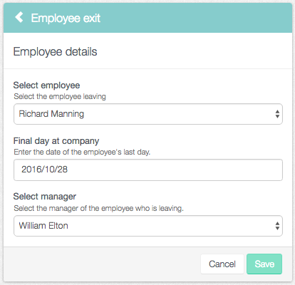 HR fills in the employee's details
