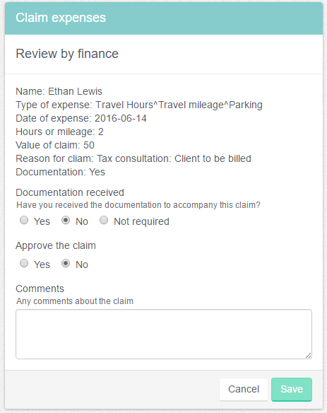 Review by finance
