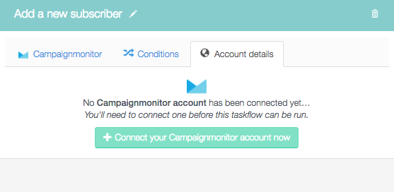 Connect your Campaign Monitor account now