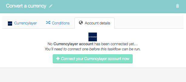 Connect your currencylayer account now