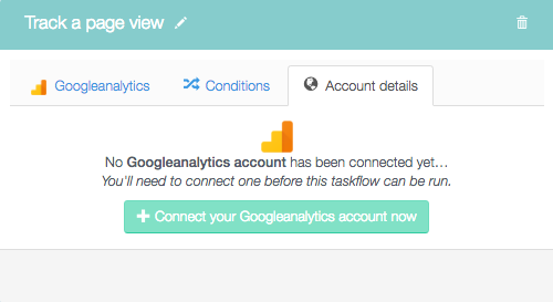 Connect your Googleanalytics account now