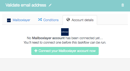 Connect your mailboxlayer account now