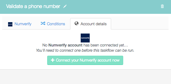 Connect your Numverify account now