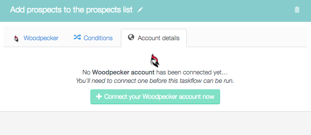 Connect your Woodpecker account now