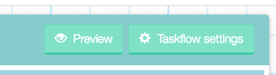 The 'Workflow Settings' button on the panel on the left in the Designer
