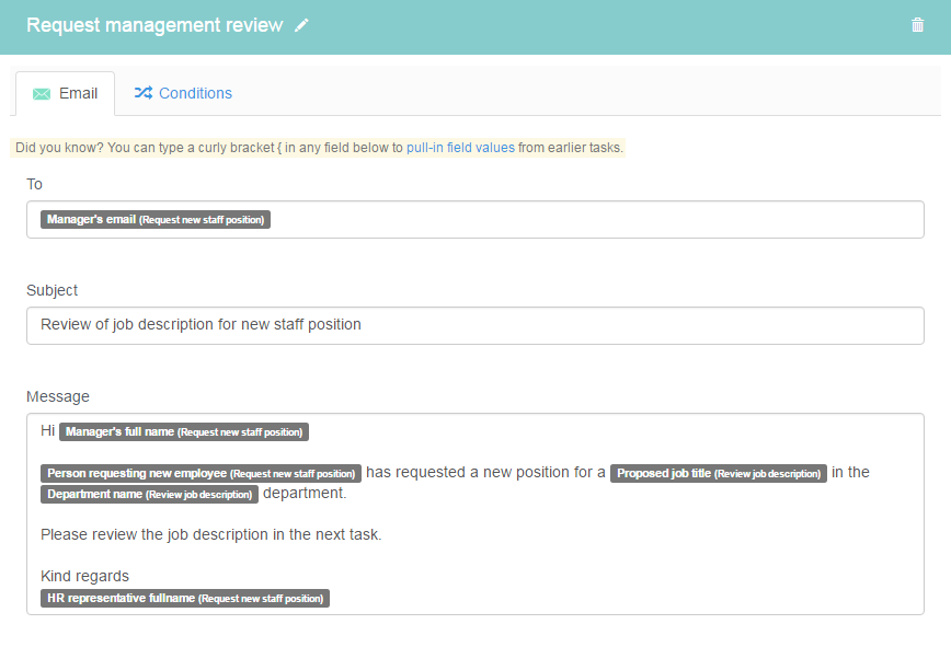 Request management review
