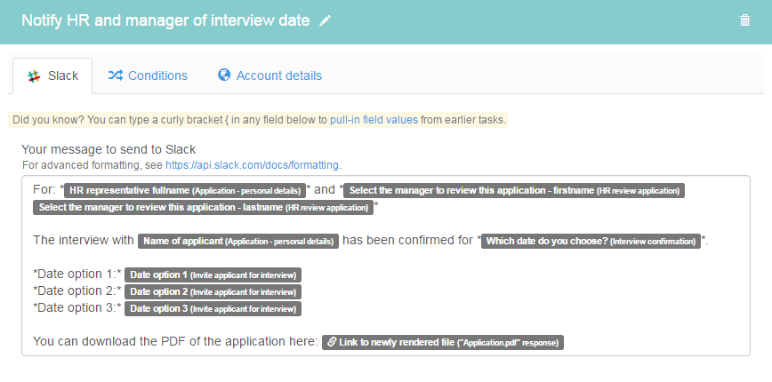 Notify HR and manager of interview date